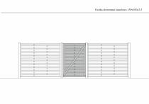 Rysunek techniczny furtki lamelowej 150 cm x 100 cm