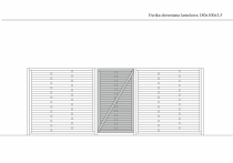 Wymiary i rysunek techniczny furtki lamelowej 180 x 100 cm