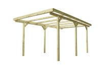 Solidna konstrukcja drewniana bez zadaszenia: zbuduj wiatę lub pawilon