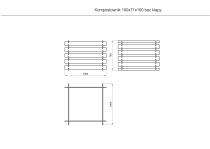 Wymiary kompostownika drewnianego: 100 x 100 cm (wysokość 70 cm)