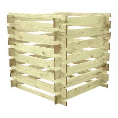 Duży kompostownik drewniany 100 x 100 x 100 cm