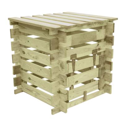 Kompostownik drewniany otwierany od góry i od przodu