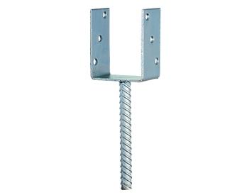 Kotwa do betonu U na słupki drewniane 7 x 7 cm - zbuduj solidne ogrodzenie