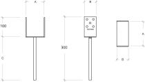 Rysunek techniczny kotwy U 9 x 9 cm - wymiary