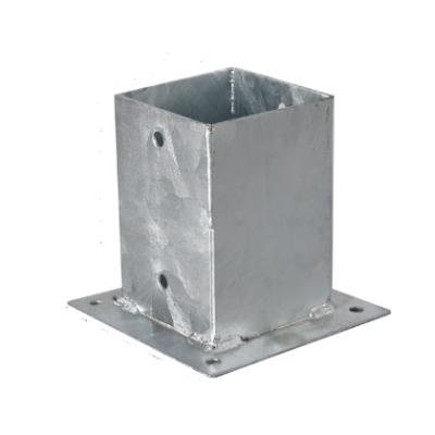 Stalowa kotwa do słupków 7 x 7 cm - przkręcana do betonu