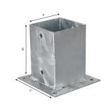 Kotwa przykręcana do betonu 9 x 9 cm: solidna podstawa ogrodzenia