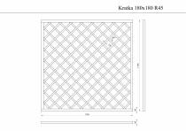 Rysunek techniczny kratki 180 x 180 x 4,5 cm