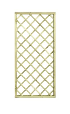 Estetycznie wykonana kratka ogrodowa z ramą 4,5 cm