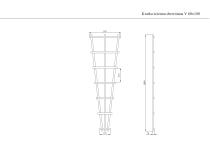 Kratka drewniana ścienna  V 60x180