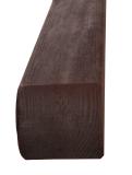 Krawędziak słupek ogrodzeniowy 70x70x1900 ciemny brąz