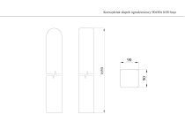 Krawędziak słupek ogrodzeniowy 90x90x1650 brązowy