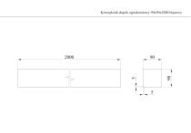 Krawędziak słupek ogrodzeniowy 90x90x2000 brązowy