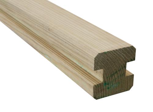 Krawędziak słupek ogrodzeniowy H 70x70x2000 naturalny