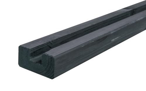 Krawędziak słupek ogrodzeniowy U 45x90x1900 grafit