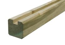 Krawędziak słupek ogrodzeniowy U 70x70x2000 naturalny
