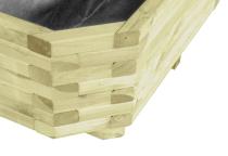Estetycznie wykonana konstrukcja donicy sprawia, że prezentuje się doskonale