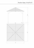 Wymiary pawilonu ogrodowego na rysunku