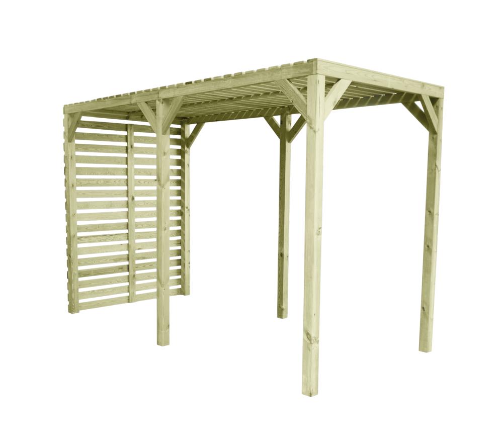 Pawilon ogrodowy drewniany z pergolą 370x180