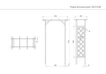 Pergola drewniana prosta 120x212x60