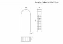 Pergola półokrągła 100x225x46