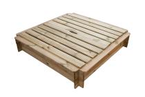 Piaskownica drewniana z pokrywą 120x120 + geowłóknina