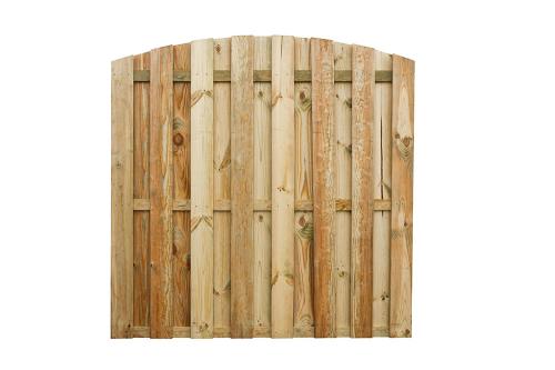 Płot deskowy drewniany łuk 180x180x4 zielony