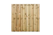 Płot deskowy drewniany prosty 180x180x4 zielony