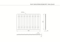Szary płot ogrodowy HOLENDER 180 x 120 cm