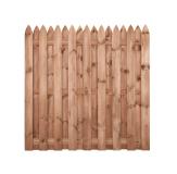 Płot drewniany deskowy HOLENDER 180x180x5 brązowy