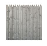 Płot drewniany deskowy HOLENDER 180x180x5 jasny szary