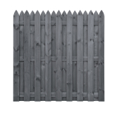 Płot drewniany deskowy HOLENDER 180x180x5 szary