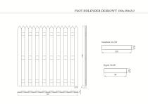 Płot drewniany deskowy HOLENDER 180x180x5 zielony