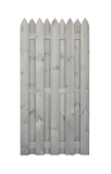 Płot drewniany deskowy HOLENDER 180x90x5 jasny szary