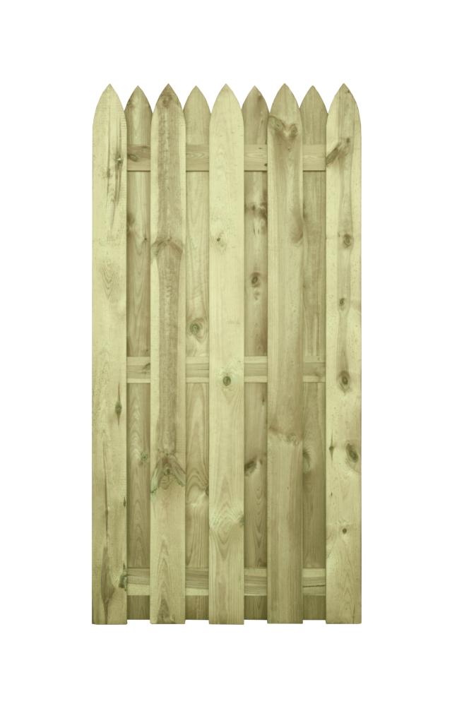 Płot drewniany deskowy HOLENDER 180x90x5 zielony