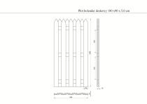 Ogrodzenie drewniane: wymiary na rysunku technicznym