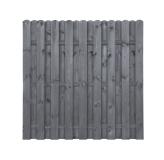 Płot drewniany deskowy HOLENDER 180x180x4,3 grafit