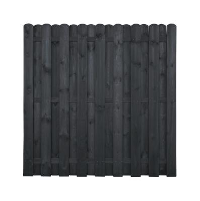 Płot drewniany 180 x 180 cm malowany na kolor szary