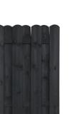 Wymiary płotu to 180 x 180 cm, deski mają grubość 1,4 cm