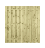 Płot drewniany deskowy HOLENDER 180x180x4,8 zielony