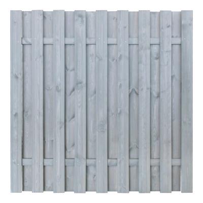 Płot drewniany deskowy HOLENDER 180x180x5,7 jasny szary
