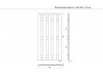 Płotek HOLENDER 180x90x5 cm - element wykończeniowy ogrodzenia
