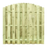 Płot drewniany deskowy HOLENDER łuk 180x180x4,8 naturalny