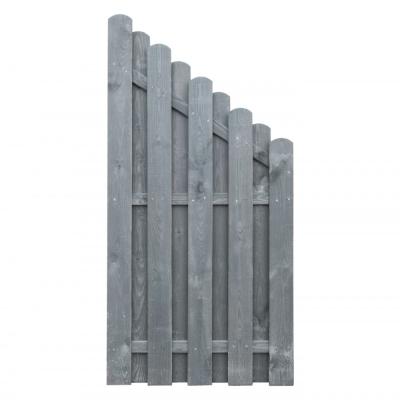 Skośny element dekoracyjny do budowy ogrodzenia w kolorze szarym