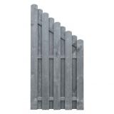 Płot drewniany deskowy HOLENDER skos 180x90x4,8 grafit