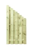 Płot drewniany deskowy HOLENDER skos 180x90x4,8 zielony