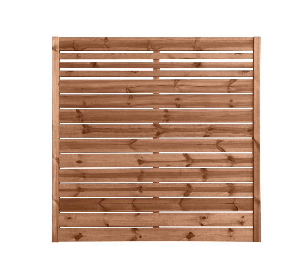 Płot drewniany deskowy w ramie 180x180x4
