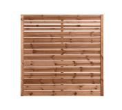 Płot drewniany deskowy w ramie 180x180x4 brąz