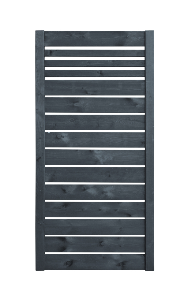 Płot drewniany deskowy w ramie 180x90x4,5