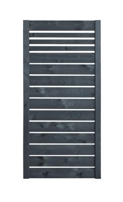 Grafitowy płot deskowy o solidnej konstrukcji - wariant 90 cm