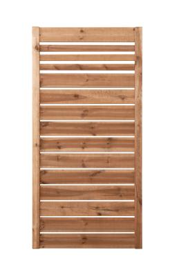 Płotek drewniany w ramie 180 x 90 cm - model brązowy
